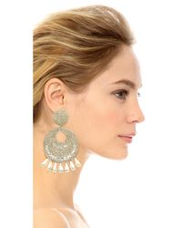 Kenneth Jay Lane | Metallic Statement Earrings | Lyst
