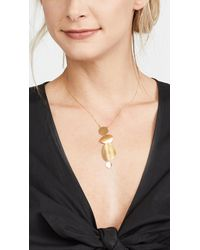 Chan Luu - Metallic Charm Necklace - Lyst