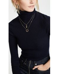Tory Burch - Metallic Surreal Lock & Key Pendant Necklace - Lyst