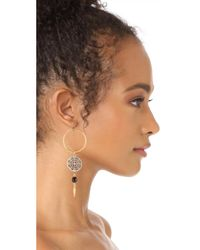 Ben-Amun - Metallic Open Circle Drop Earrings - Lyst