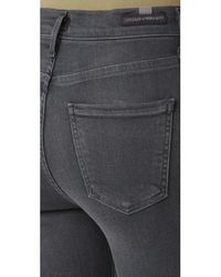 Citizens of Humanity - Blue High Rise Rocket Crop Skinny Jeans - Lyst