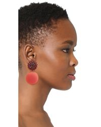 Marni - Red Strass Clip On Earrings - Lyst