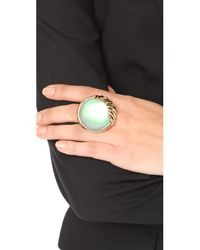 Alexis Bittar - Metallic Sculptural Sphere Cocktail Ring - Lyst