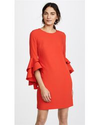 MILLY - Red Italian Cady June Dress - Lyst