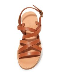 Madewell - Brown Boardwalk Multi Strap Sandals - Lyst