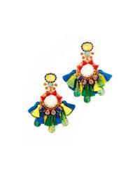 Elizabeth Cole - Multicolor Fan Earrings - Lyst