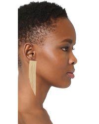 Rosantica - Metallic Chain Linear Drop Earrings - Lyst