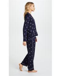 Splendid - Blue X Vogue Long Sleeve Pj Set - Lyst