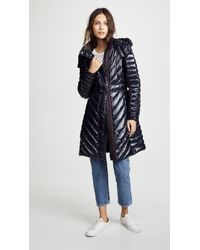 04bbe6ad5593a HUNTER Refined Gloss Down Coat in Blue - Lyst