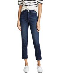 AMO - Blue Audrey High Rise Cigarette Jeans - Lyst