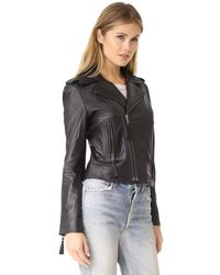 Joie - Black Ailey Leather Jacket - Lyst