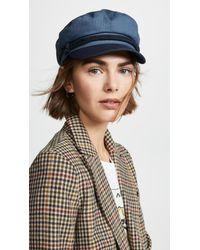 Brixton - Blue Fiddler Newsboy Hat - Lyst