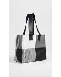 Truss Black Large Tote Bag With Leather Handle