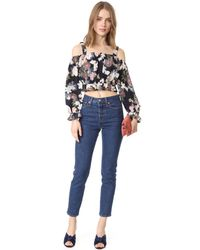 Nicholas - Multicolor N/ Thistle Floral Long Sleeve Rosie Top - Lyst