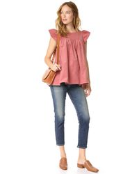 HATCH - Red Reece Cord Top - Lyst