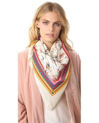 Tory Burch | Multicolor Dancers Silk Square Scarf | Lyst
