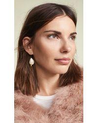 BaubleBar - White Dayla Drop Earrings - Lyst