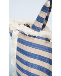 Hat Attack - Blue Fringed Canvas Tote Bag - Lyst
