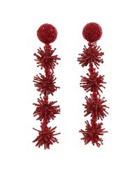 Sachin & Babi - Red Sparklers Earrings - Lyst