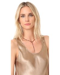 Rebecca Minkoff - Metallic Clara Fringe Y Necklace - Lyst