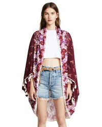 Free People - Red Bali Wrapped In Blooms Shawl Robe - Lyst