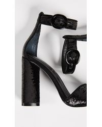 Kendall + Kylie - Black Giselle Ankle Strap Sandals - Lyst