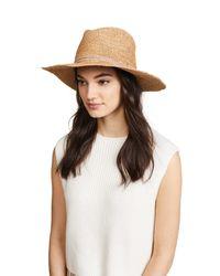 Hat Attack - Multicolor Raffia Crochet Continental Hat - Lyst