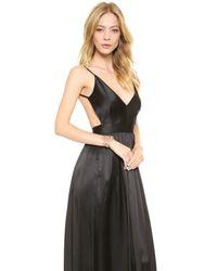 One By | Black Babs Bibb Silk Maxi Dress | Lyst