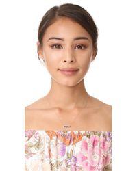 Adina Reyter - Metallic Lapis + Diamond Bar Necklace - Lyst