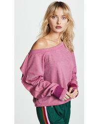 Free People - Pink Movement Flounce Tech Top - Lyst