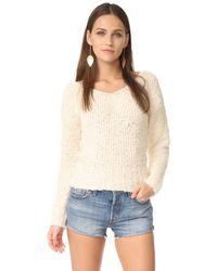 Elizabeth and James | White Wyatt V Neck Sweater | Lyst