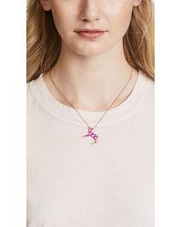 Mas Bisjoux - Pink Mini Unicorn Necklace - Lyst