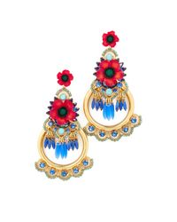 Elizabeth Cole - Multicolor Eliza Earrings - Lyst