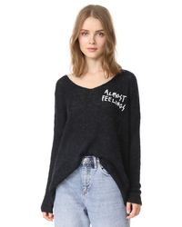 Wildfox | Black Almost Feelings Beyond Sweater | Lyst