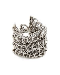 Alexander Wang - Metallic 4 Row Box Chain Bracelet - Lyst