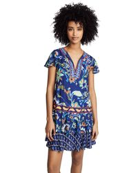 Alice + Olivia - Blue Kora Flare Dress - Lyst