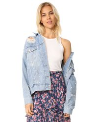 Free People | Blue Sunday Funday Trucker Jacket | Lyst