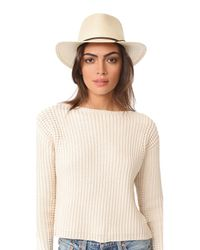 Rag & Bone - Natural Packable Straw Fedora - Lyst