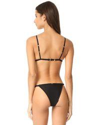 For Love & Lemons - Black Samba Braided Tiny Bikini Top - Lyst