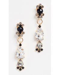 Marni - Black Strass Earrings - Lyst