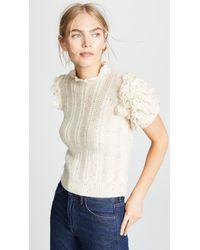 Ulla Johnson - Natural Amie Cashmere Sweater - Lyst