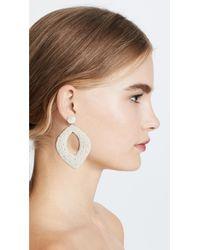 Deepa Gurnani - White Kate Erte By Earrings - Lyst