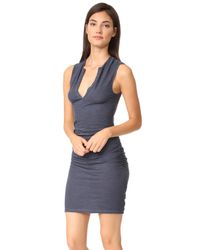 Lanston - Blue Ruched Dress - Lyst