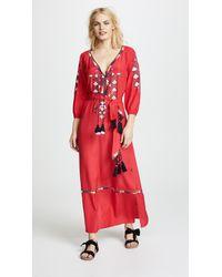 8784185a64 Lyst - Figue Lulu Red Kaftan Dress in Red