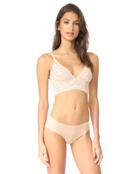 Free People - Natural Isabella Mesh Underwire Bra - Lyst