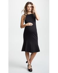 51549cb8fa512 Lyst - Ingrid & Isabel Tulip Hem Ponte Maternity Dress in Black