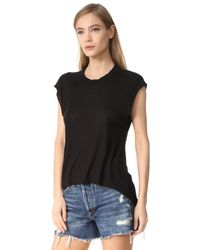 Enza Costa - Black Ribbed Tee - Lyst