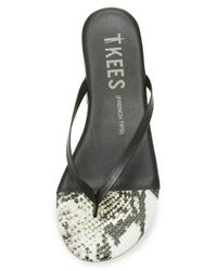 TKEES Multicolor French Tips Flip Flops
