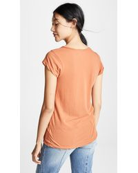 James Perse - Multicolor High Gauge Jersey Deep V Tee - Lyst