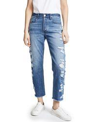 3x1 - Blue Higher Ground Crop Jeans - Lyst